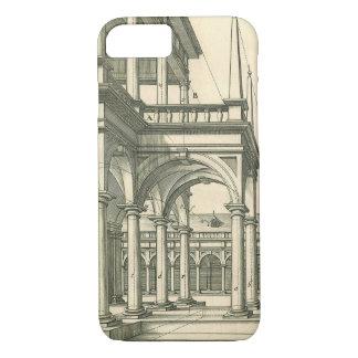 Coque iPhone 7 Architecture vintage, cour romaine avec des