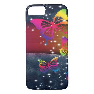 Coque iPhone 7 Arcs-en-ciel des papillons n