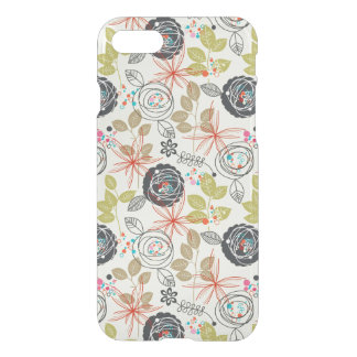 Coque iPhone 7 Arrière - plan floral 2
