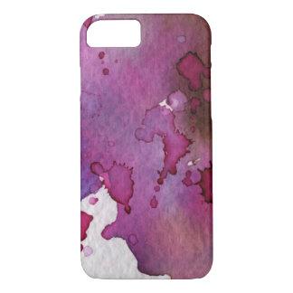 Coque iPhone 7 Arrière - plan pourpre d'aquarelle
