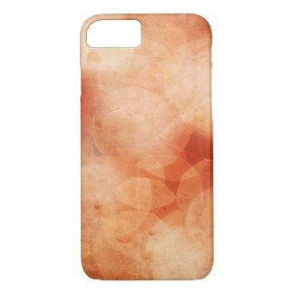 Coque iPhone 7 Arrière - plan vintage de lumières de Noël. Rouge