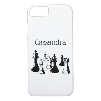 Coque iPhone 7 Art vintage #2 de pièces d'échecs