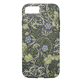 Coque iPhone 7 Art vintage floral de motif d'algue de William