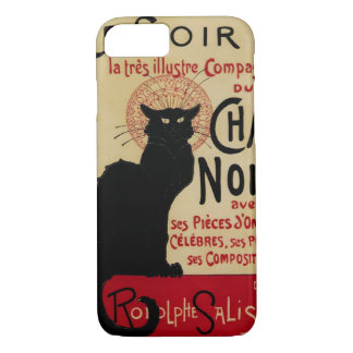Coque iPhone 7 Art vintage Nouveau, chat noir Noir de