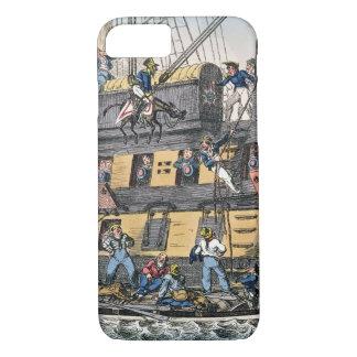 Coque iPhone 7 Artillerie de vol ou une marine de cheval (engravi