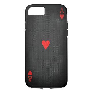 Coque iPhone 7 As des coeurs noir