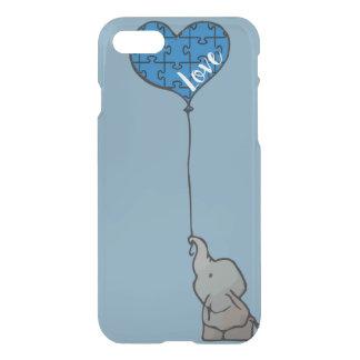 Coque iPhone 7 - ASD - amour bleu - cas de téléphone