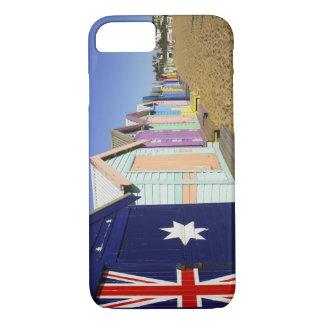 Coque iPhone 7 Baigner des boîtes, plage moyenne de Brighton,