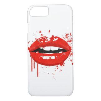 Coque iPhone 7 Baiser rouge de maquillage de mode de beauté de