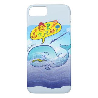 Coque iPhone 7 Baleine sauvage indiquant de mauvais mots tout en