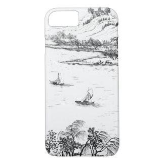 Coque iPhone 7 Bâti Chang et lac Chou, de 'Anglo-Chi de Jardins