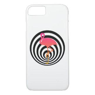 Coque iPhone 7 Beau flamant en cercles