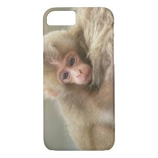 Coque iPhone 7 Bébé de singe de neige, Jigokudani, Nagano, Japon
