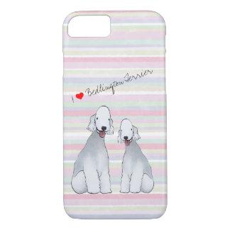 Coque iPhone 7 Bedlington Terrier a illustré le cas de téléphone
