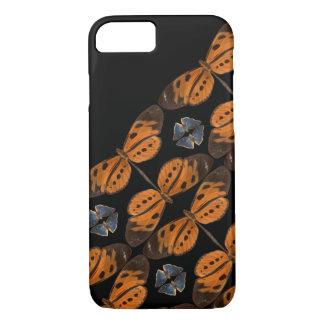Coque iPhone 7 Belle caisse bleue et orange de téléphone de