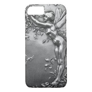 Coque iPhone 7 Bijoux antiques féeriques argentés de cru de