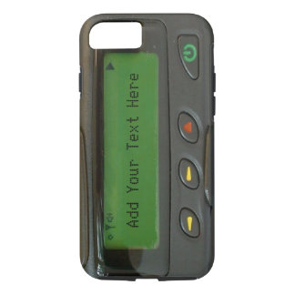 Coque iPhone 7 Bipeur drôle personnalisé de la vieille école 90s