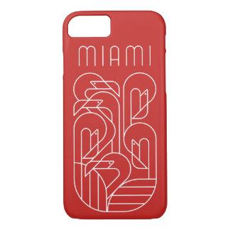 Coque iPhone 7 Blanc de flamant de Miami