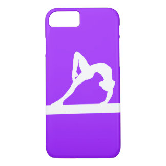 Coque iPhone 7 blanc de silhouette de gymnaste de cas de l'iPhone