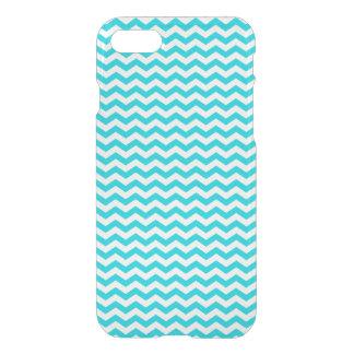Coque iPhone 7 Blanc et motif de zigzag d'Aqua