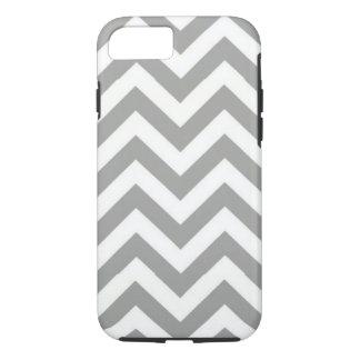 Coque iPhone 7 Blanc gris Chevron