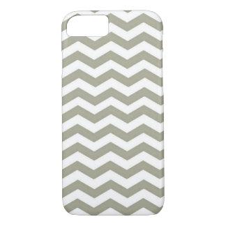 Coque iPhone 7 Blanc gris vintage Chevron. Motif de zigzag