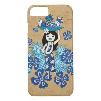 Coque iPhone 7 Bois hawaïen de Faux de fille de danse