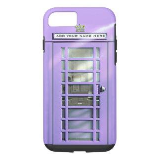 Coque iPhone 7 Boîte lilas drôle de téléphone des Anglais