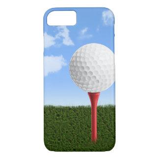 Coque iPhone 7 Boule de golf sur la pièce en t, le ciel et
