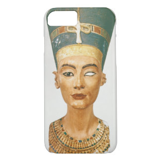 Coque iPhone 7 Buste de la Reine Nefertiti, vue de face, du