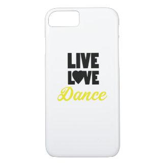 Coque iPhone 7 Cadeau vivant de danseur de danse de danse d'amour