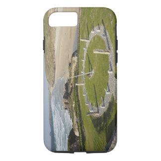 Coque iPhone 7 Cadran solaire et plage de Perran, Perranporth,