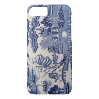 Coque iPhone 7 Caisse bleue du 19ème siècle traditionnelle de la
