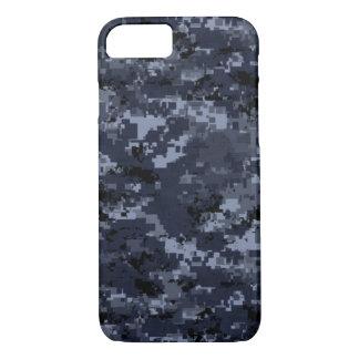 Coque iPhone 7 Caisse bleue militaire de l'iPhone 7 de Camo à