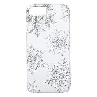 Coque iPhone 7 Caisse cristalline blanche de téléphone de flocons