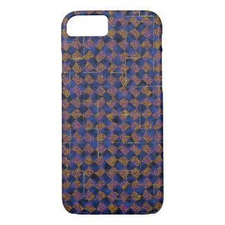 Coque iPhone 7 Caisse de bleu et d'or