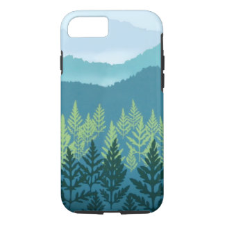 Coque iPhone 7 Caisse dure bleue de l'iPhone X/8/7 de crèche de