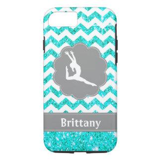 Coque iPhone 7 Caisse grise turquoise de téléphone portable de