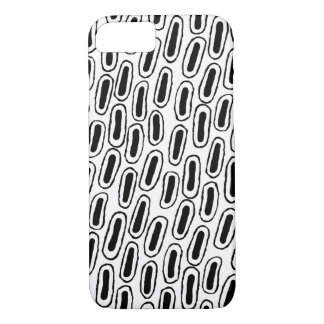 Coque iPhone 7 Caisse modelée noire et blanche de téléphone