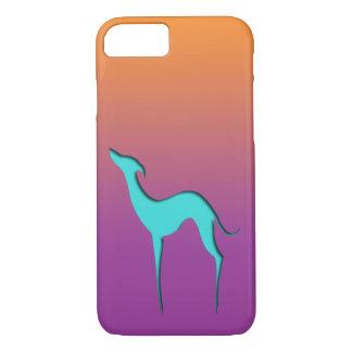 Coque iPhone 7 Caisse violette orange bleue de l'iPhone 7 de
