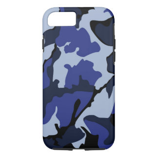 Coque iPhone 7 Camo bleu, cas dur de l'iPhone 7