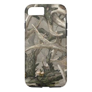 Coque iPhone 7 Camo de crâne de cerfs communs de région