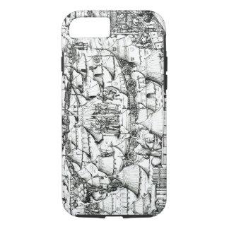 Coque iPhone 7 Campement militaire médiéval, d'un livre, pub. 18