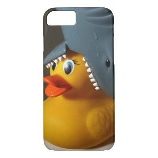 Coque iPhone 7 Canard en caoutchouc de casquette de requin