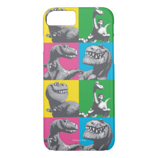 Coque iPhone 7 Carré de la silhouette quatre de Dino