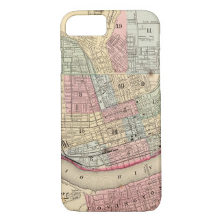 Coque iPhone 7 Carte de Cincinnati par Mitchell