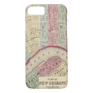 Coque iPhone 7 Carte de la Nouvelle-Orléans par Mitchell