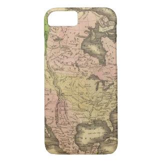 Coque iPhone 7 Carte de l'Amérique du Nord Olney