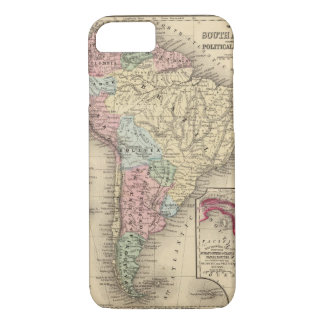 Coque iPhone 7 Carte de l'Amérique du Sud par Mitchell