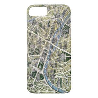 Coque iPhone 7 Carte de Paris au cours de la période des Grands